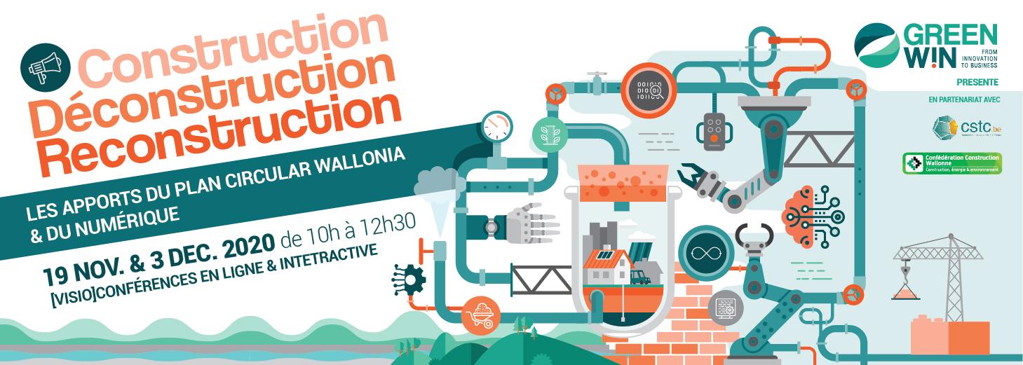 Conférence Construction : Les apports du plan Circular Wallonia & du numérique