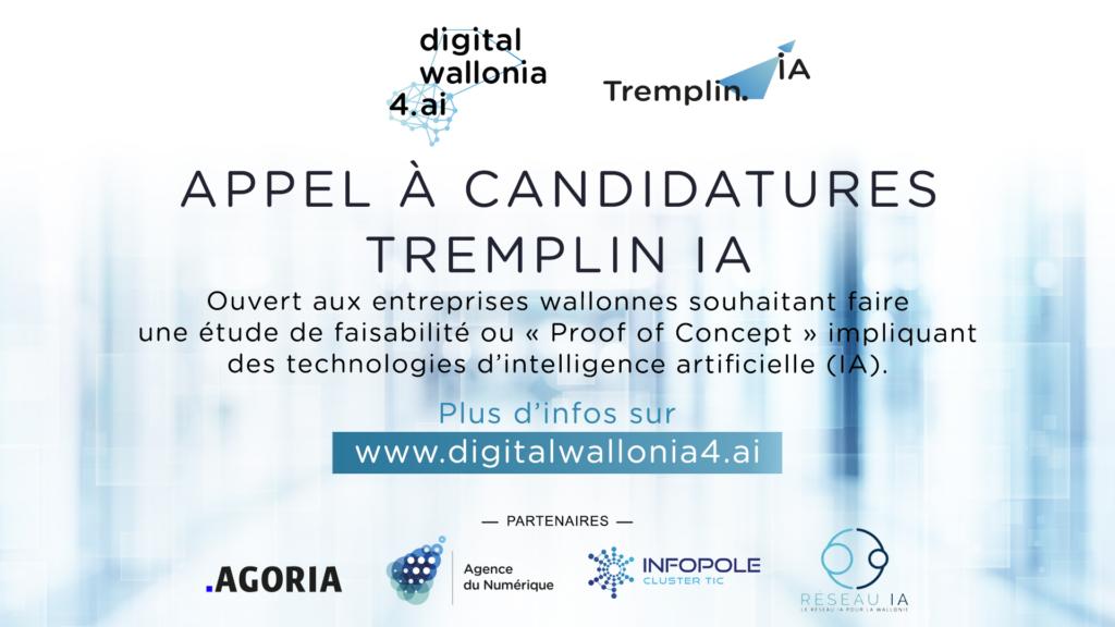 Digital Wallonia4AI : appel à projets Tremplin IA